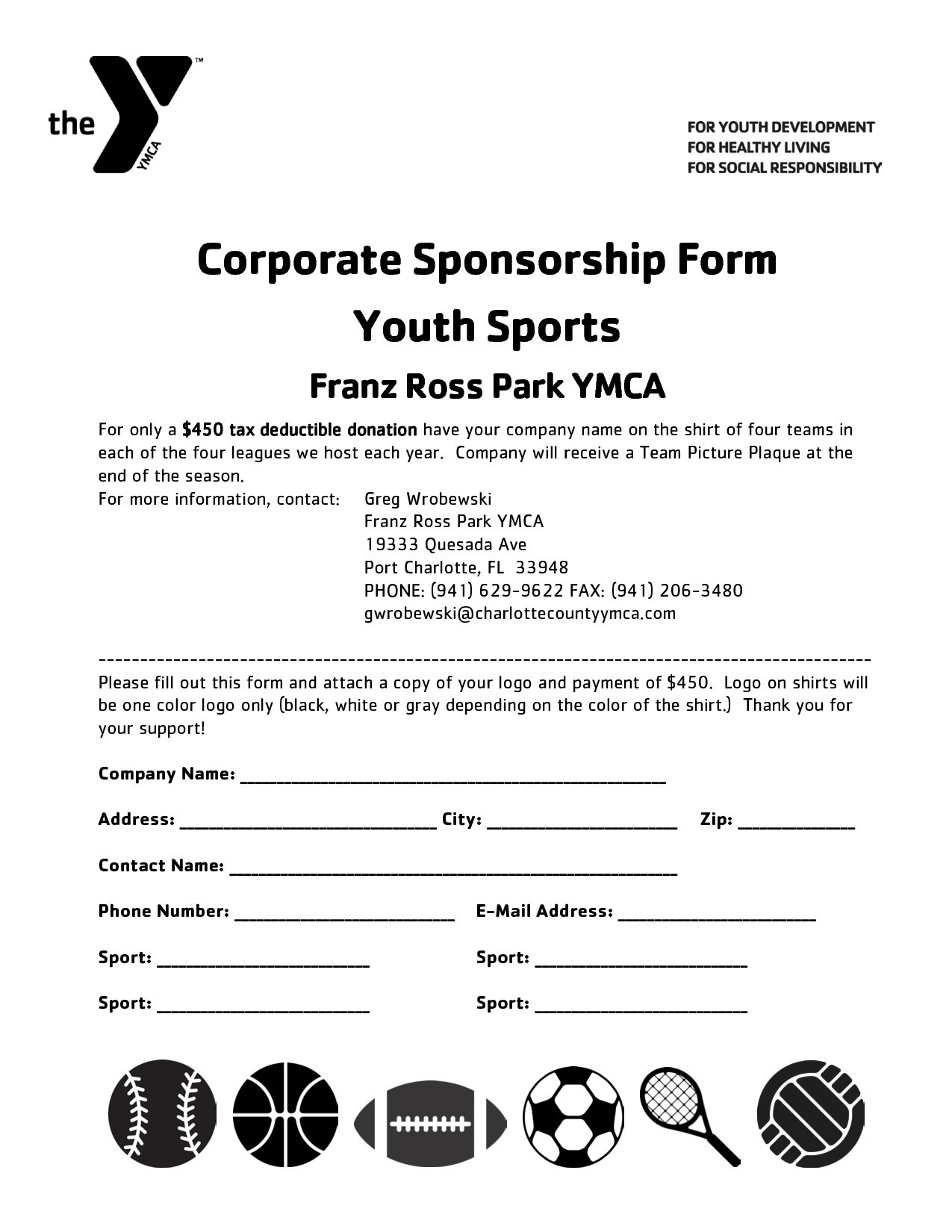 Youth Baseball Sponsorship Letter Template - Sponsorship Letter Template for Sports Team