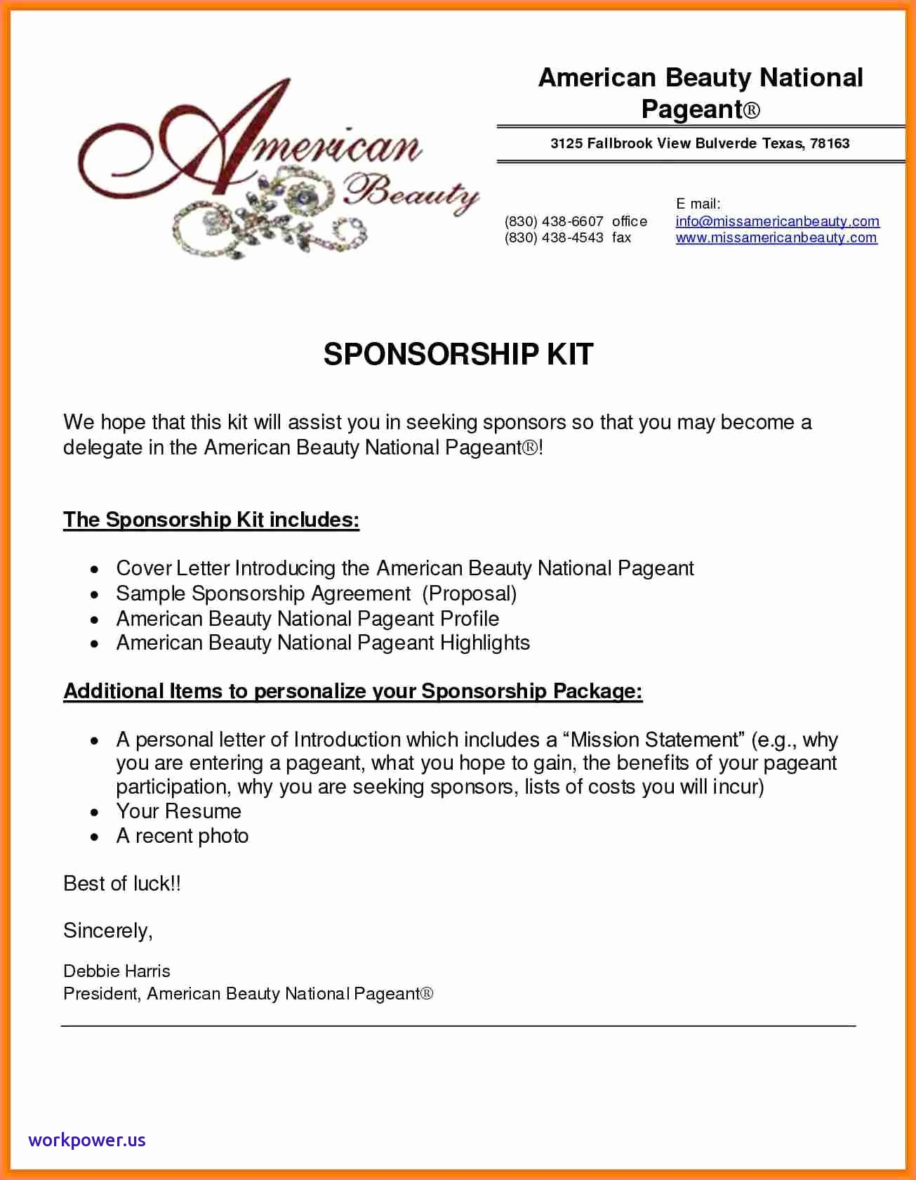 Youth Football Sponsorship Letter Template - Sponsorship Packages for Youth Football