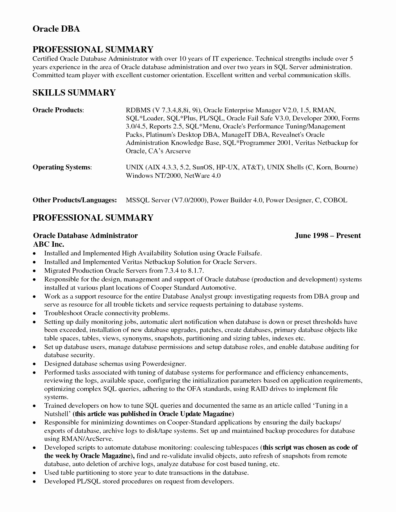 Personal Reference Letter Template Word - Sql Server Dba Resume Beautiful 20 Personal Reference Letter