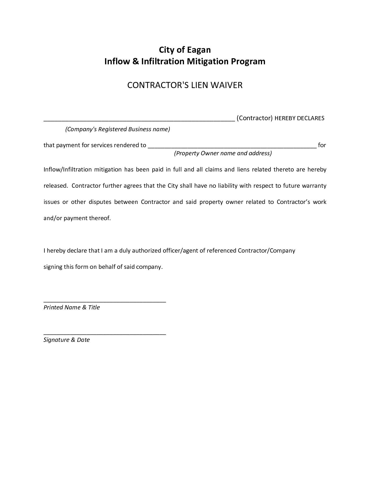 Lien Letter Template - Staggering Tax Lien Release Letter
