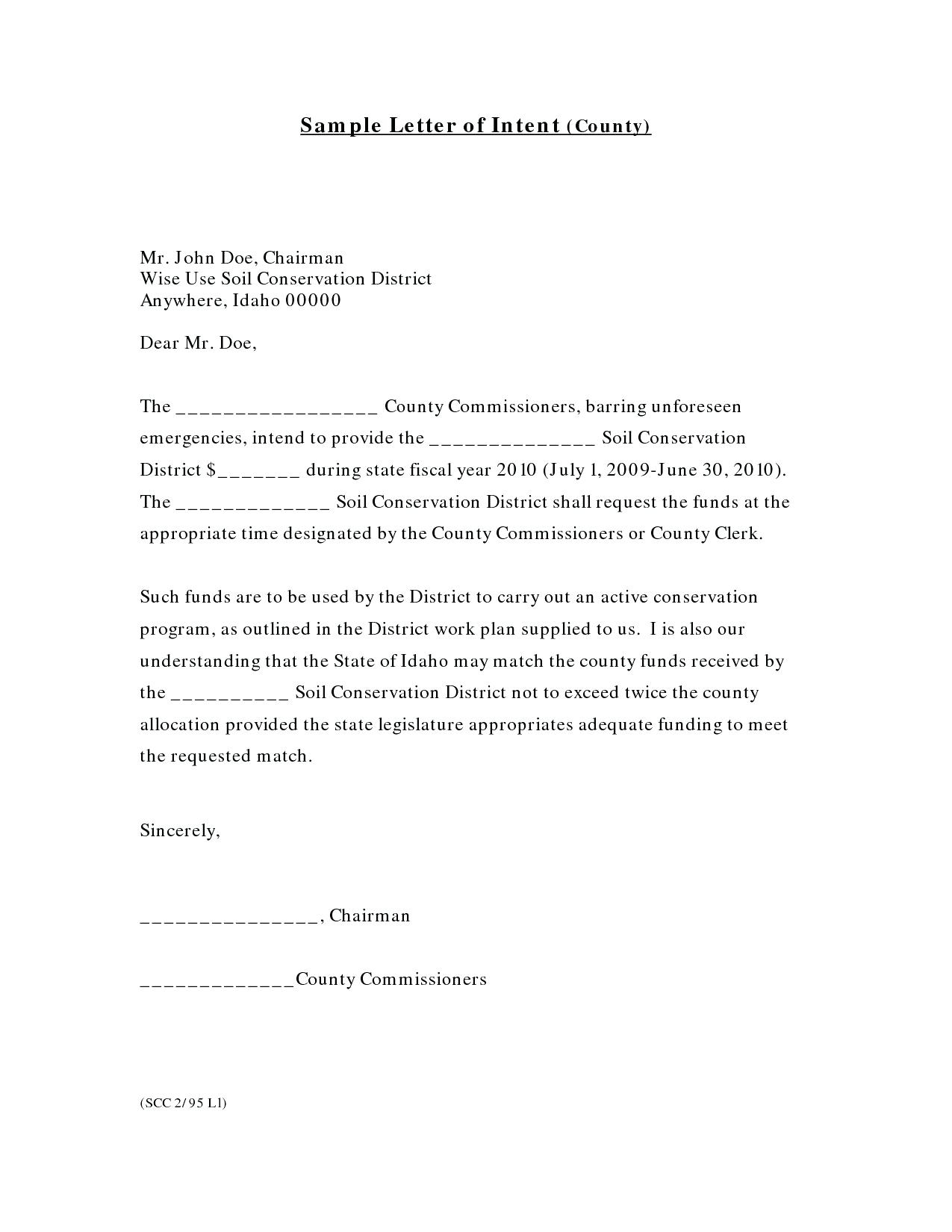 Subcontractor Letter Of Intent Template - Subcontractor Letter Intent Template Construction Contract