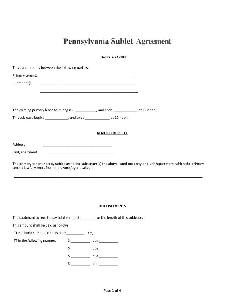Sublet Letter Template - Subletter Agreement Best Apartment Sublease Agreement Template