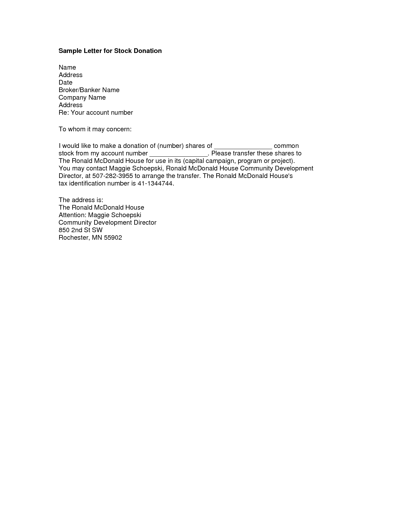Memorial Donation Letter Template Collection Letter Template