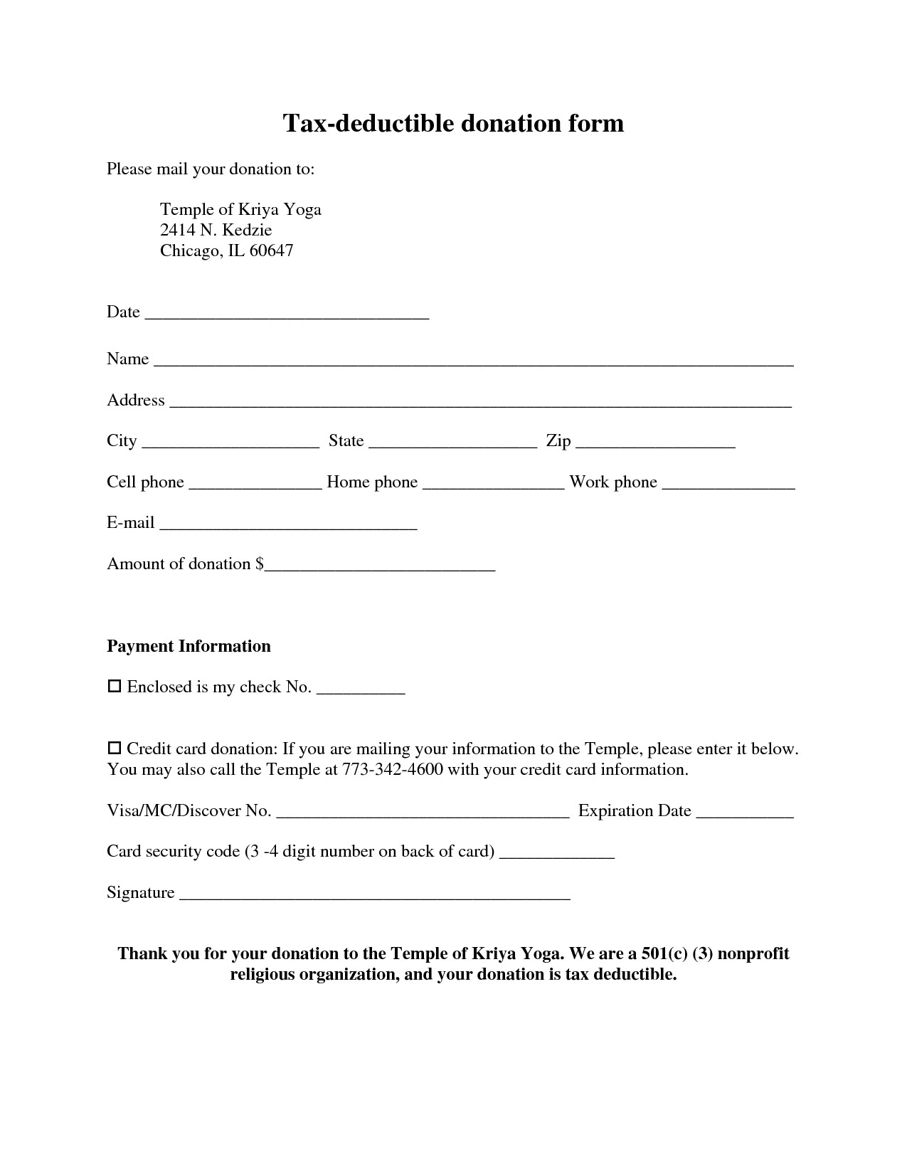 Tax Write Off Donation Letter Template - Tax Donation form Template Beautiful form Best S 501 Tax Exempt