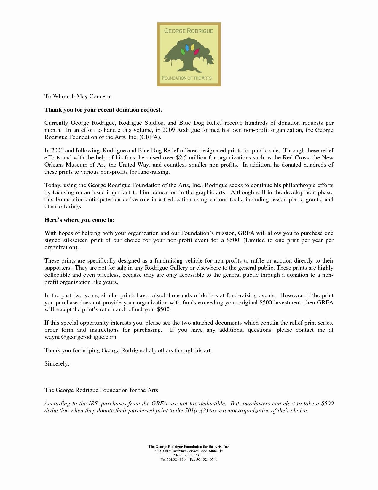 Non Profit Tax Deduction Letter Template - Tax Donation Letter Template Awesome Salvation Army Donation
