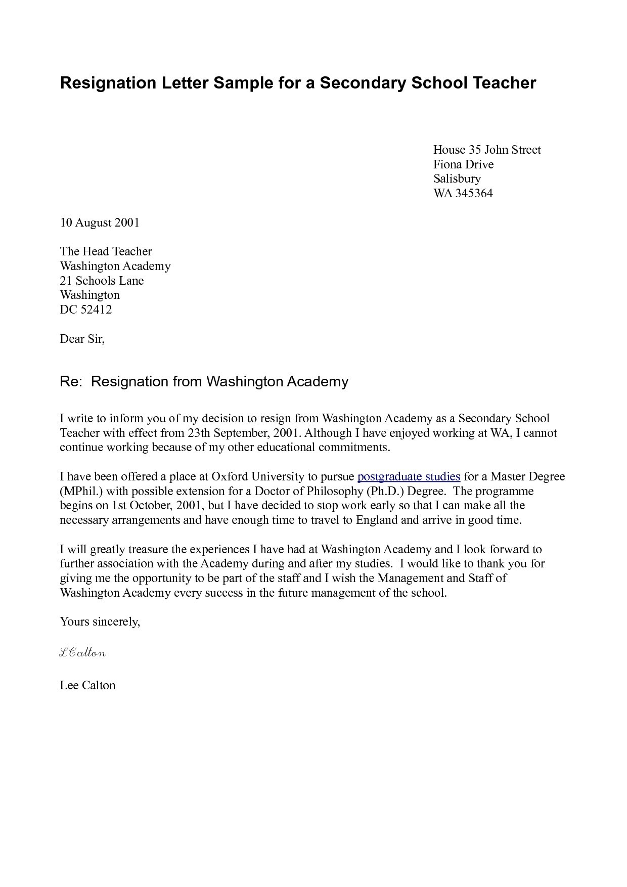 letter of resignation teacher template teacher letter resignation sample archives newerasolutions co