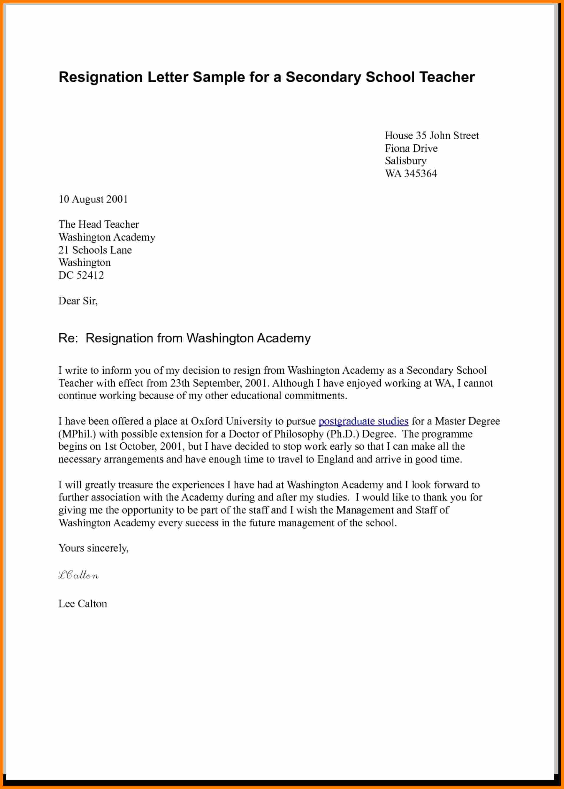 Daycare Letter to Parents Template - Teacher Resignation Letter toents Picture Hd Worthy Snapshot