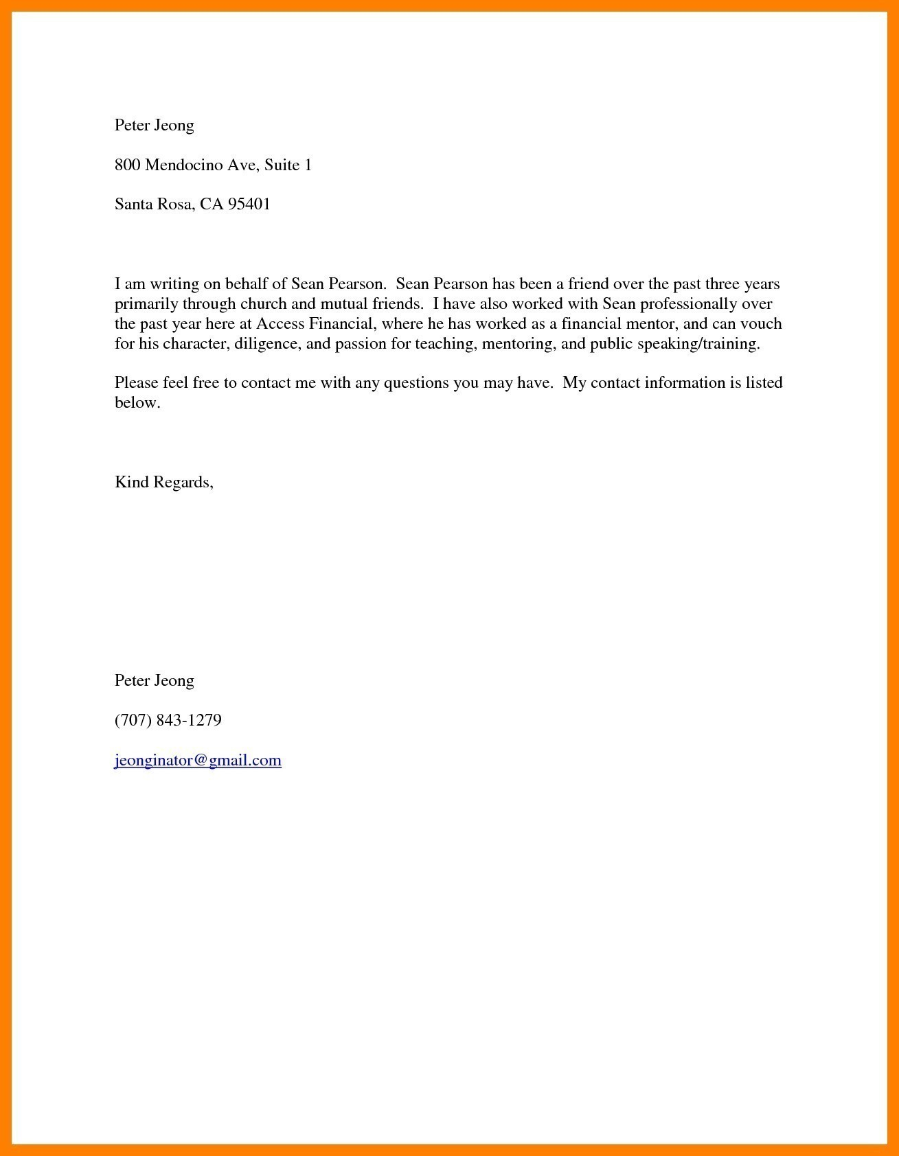 Letter Of Recommendation for A Friend Template - Template Certificate Good Moral Character New Sample Character