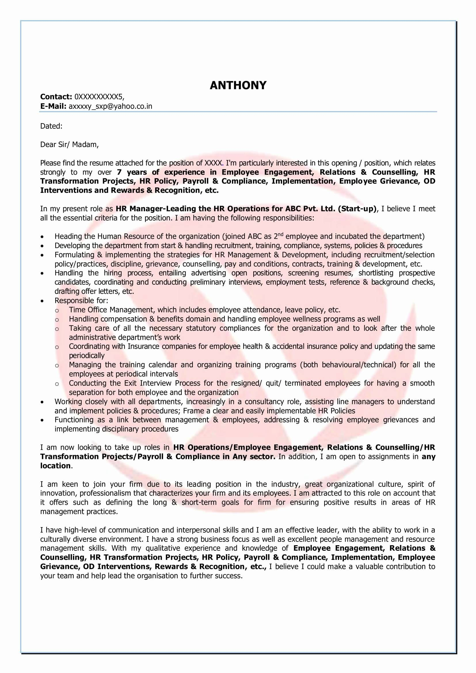 Free Breach Of Contract Letter Template - Template for Grievance Letter