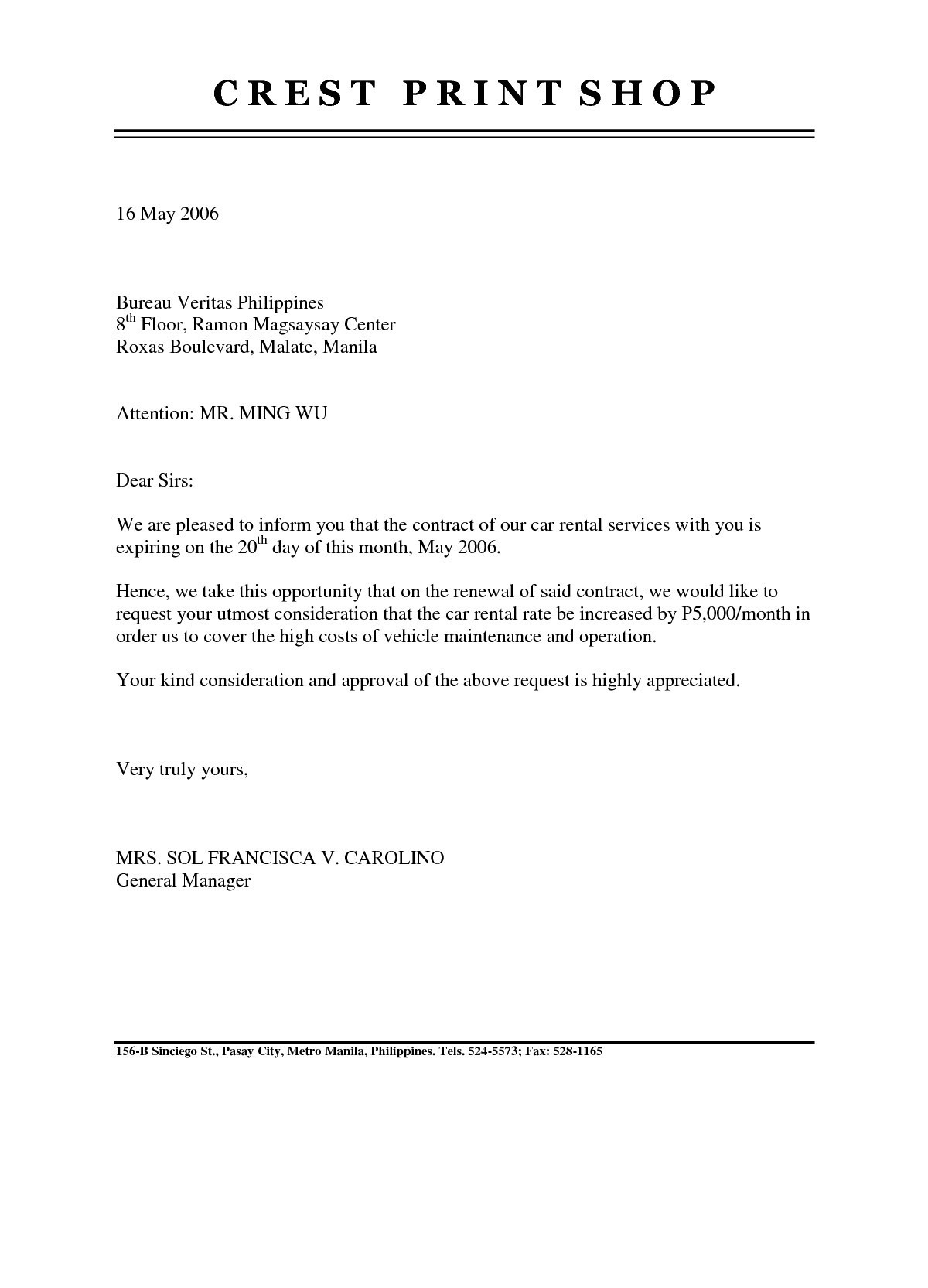 Landlord Agreement Letter Template - Tenancy Agreement Renewal Template
