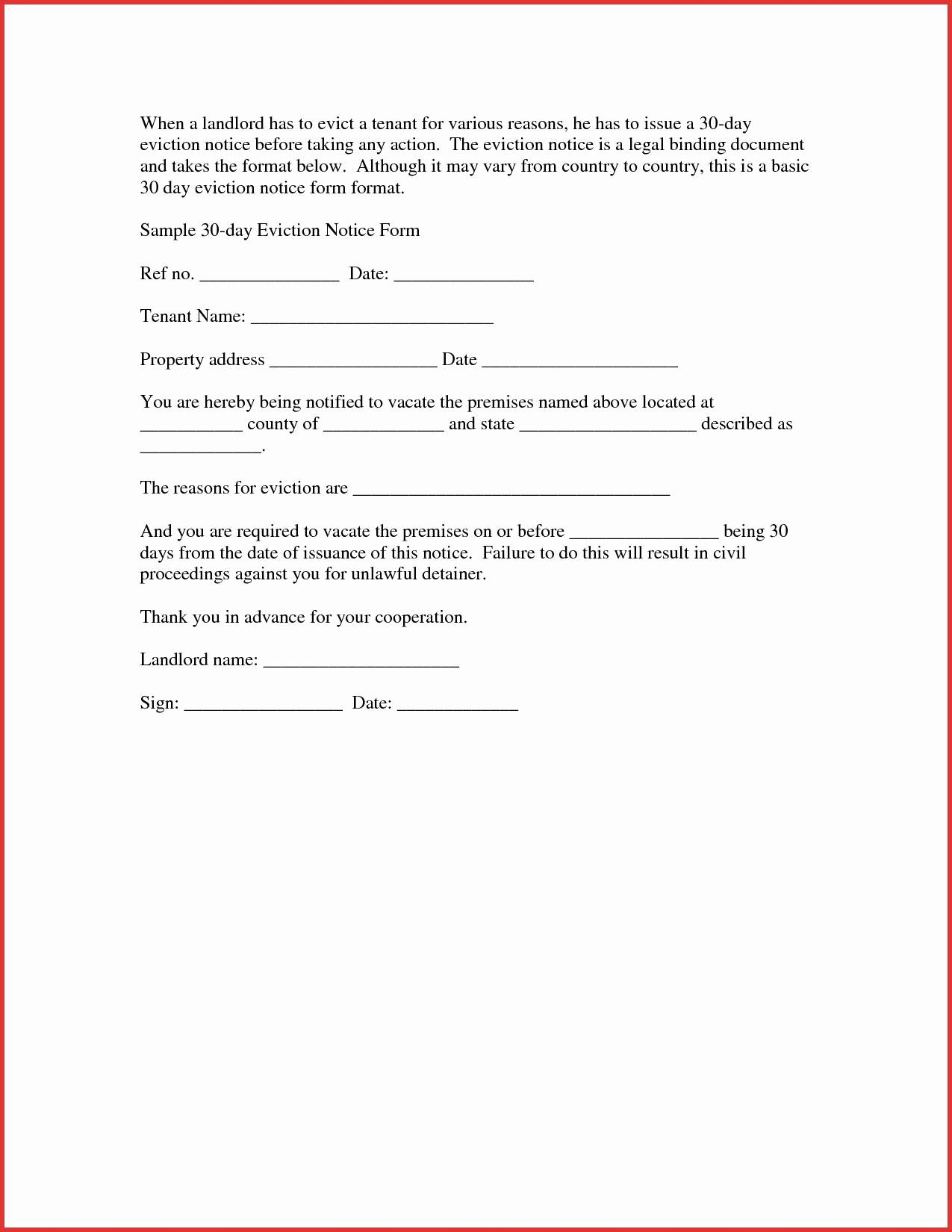 30 day eviction letter template example-Tenant Eviction Letter Template Best Free Eviction Notice Template Idealstalist 3-p