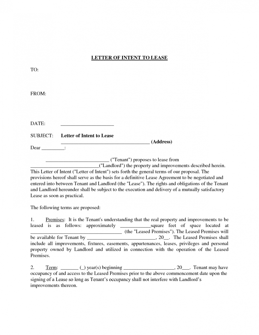 Letter Of Intent to Lease Template - Tenant Fero Lease Mercial Property Youtube Letter
