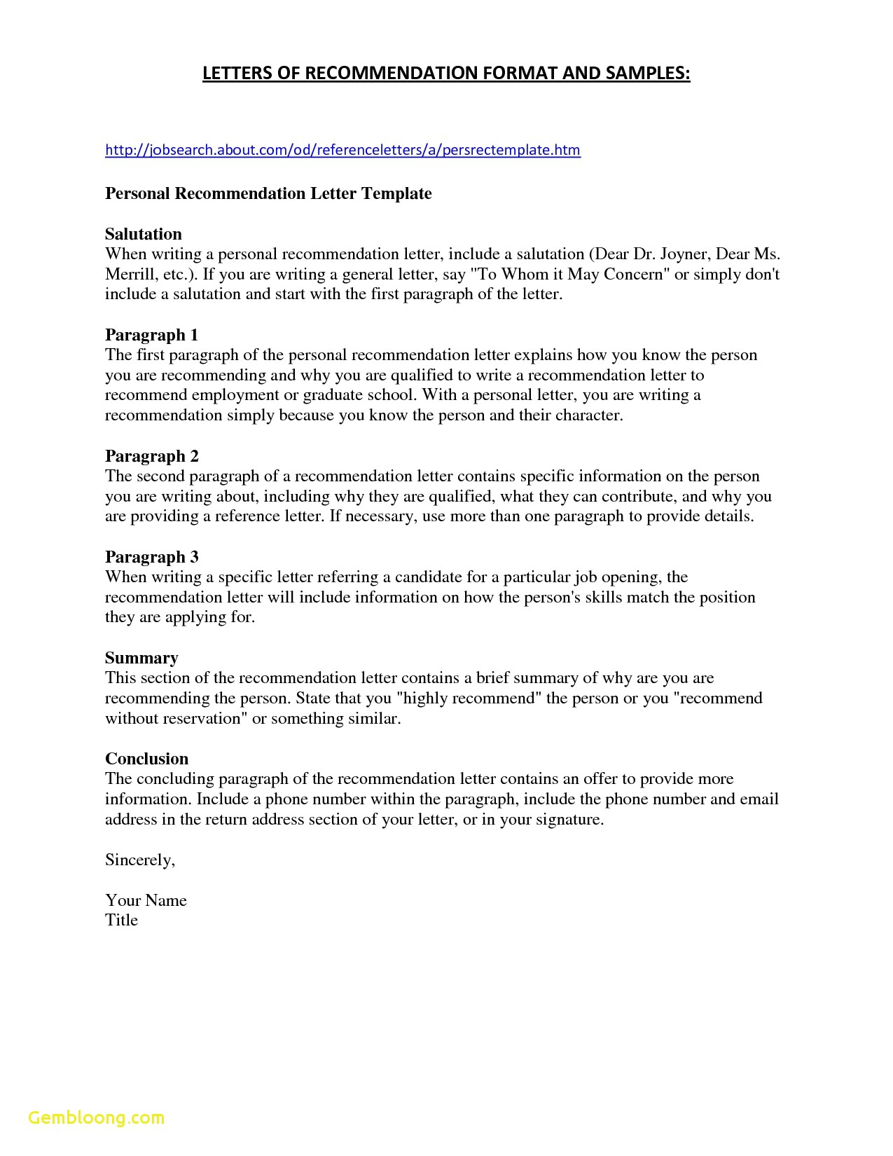 Letter Of Recommendation Template for Student - Tenure Re Mendation Letter Acurnamedia
