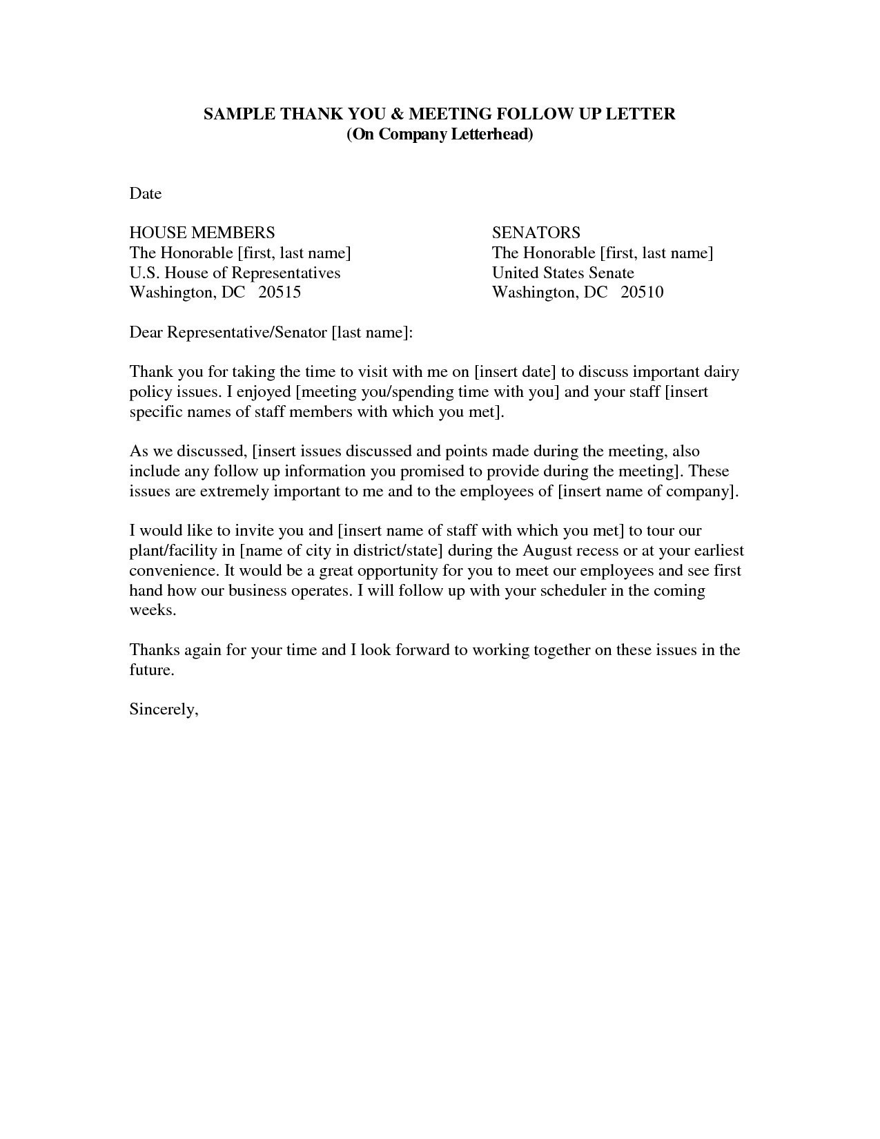 Letter to Senator Template - Thank You Letter format for Business New Template Letter for