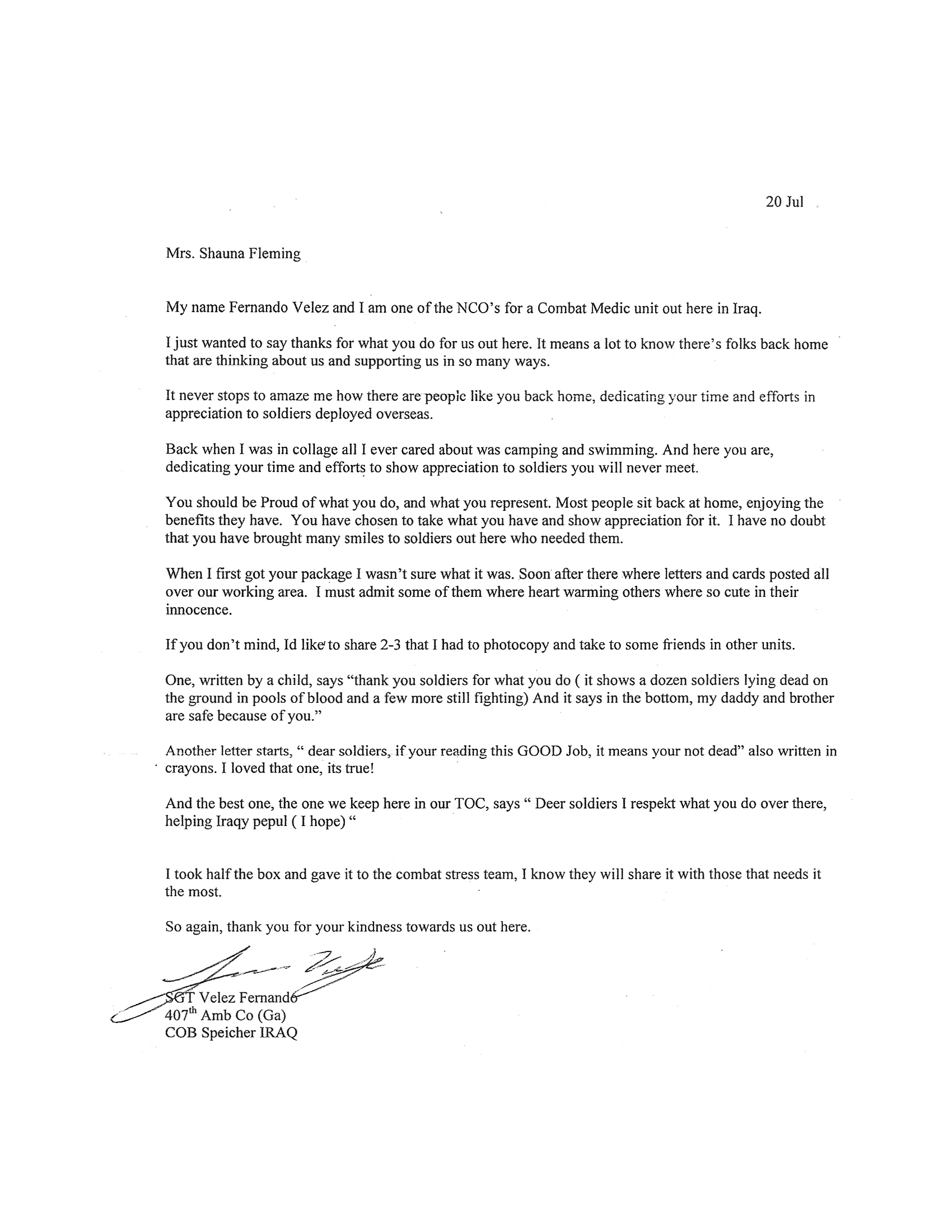 Letter to soldier Template - Thank You Letters for sol Rs Letter format formal Sample