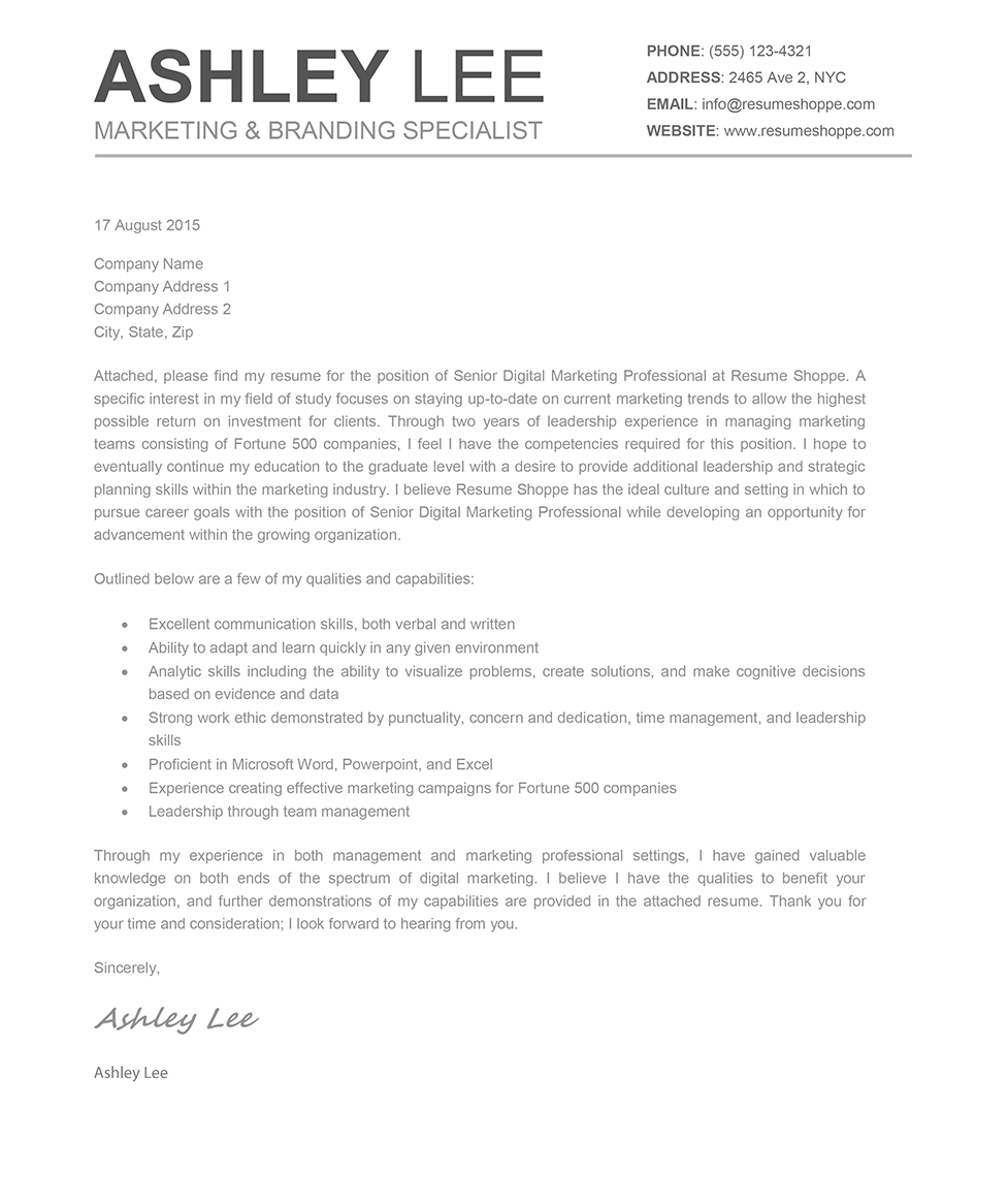 Mac Pages Cover Letter Template - the ashley Cover Letter Creative Resume Mac and Word