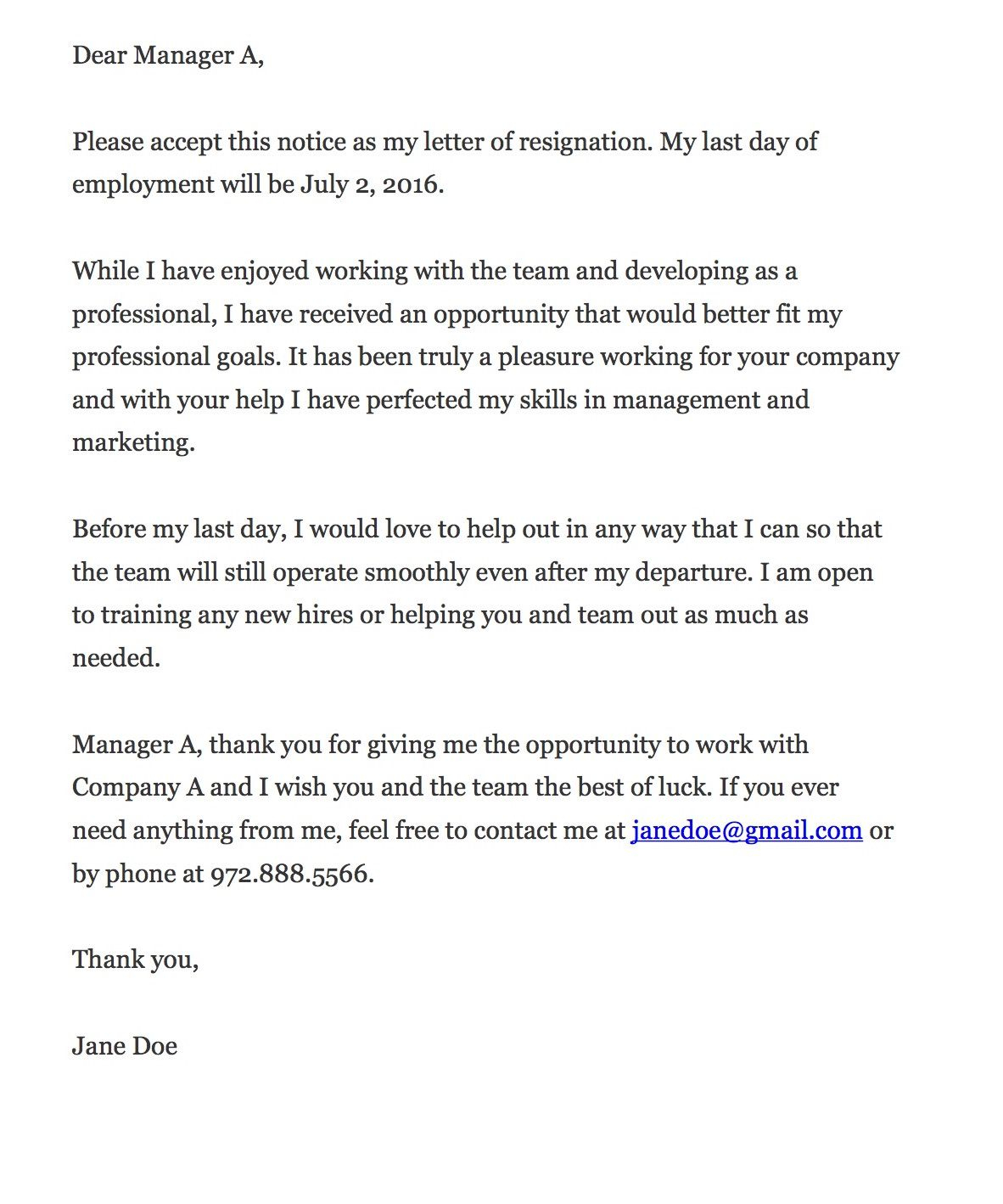 7 Day Notice Letter Construction Template - the Key to Writing A Resignation Letter Pinterest