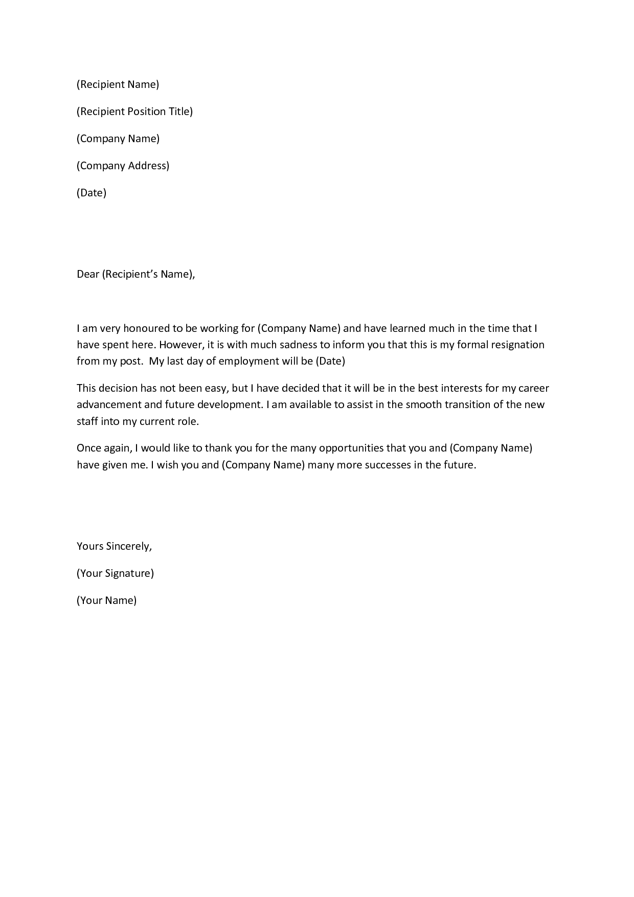 7 Day Notice Letter Construction Template - This Article Will Include Multiple Sample Letters for Quitting A Job