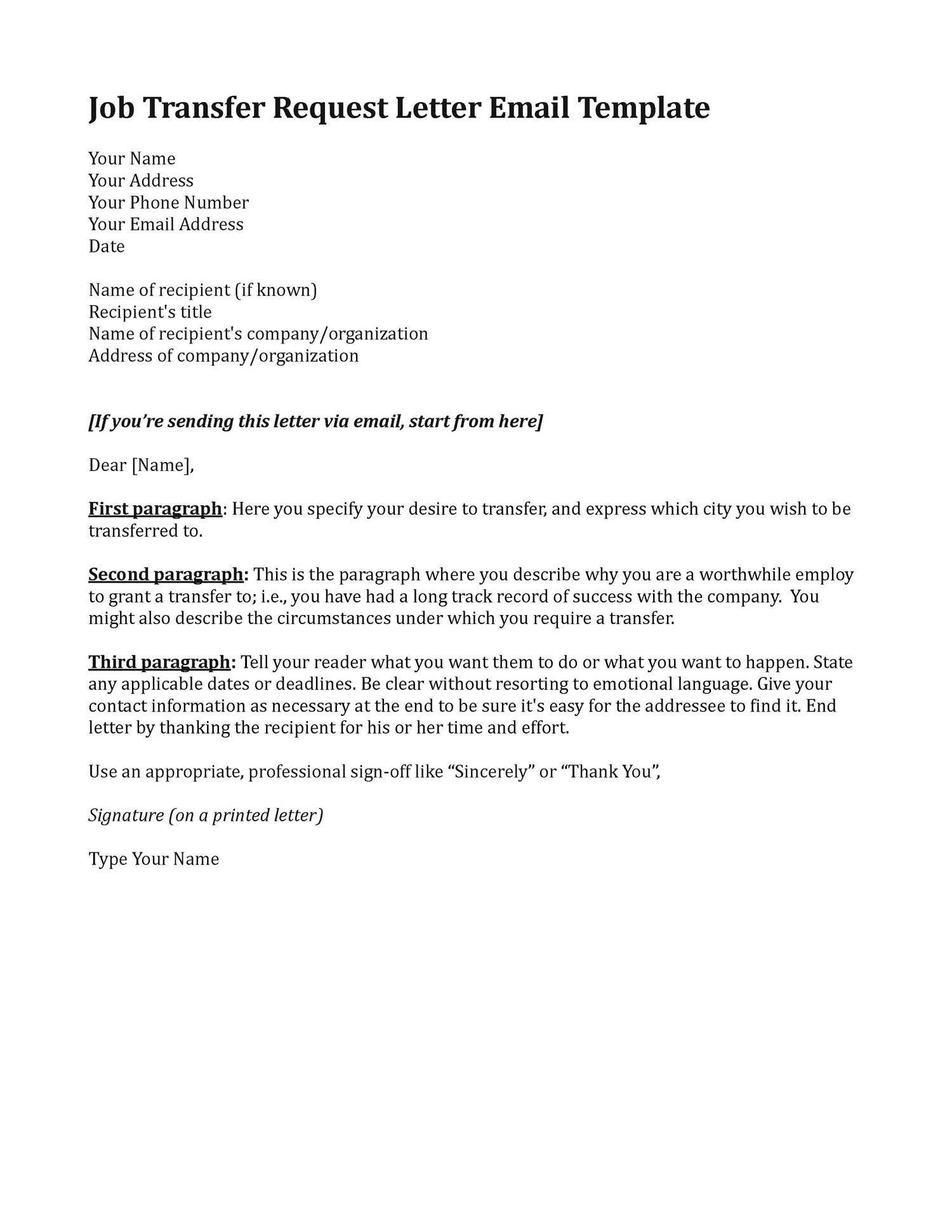 Transfer Letter Template - Transfer Letter for Job Best Job Transfer Letter Fresh Transfer