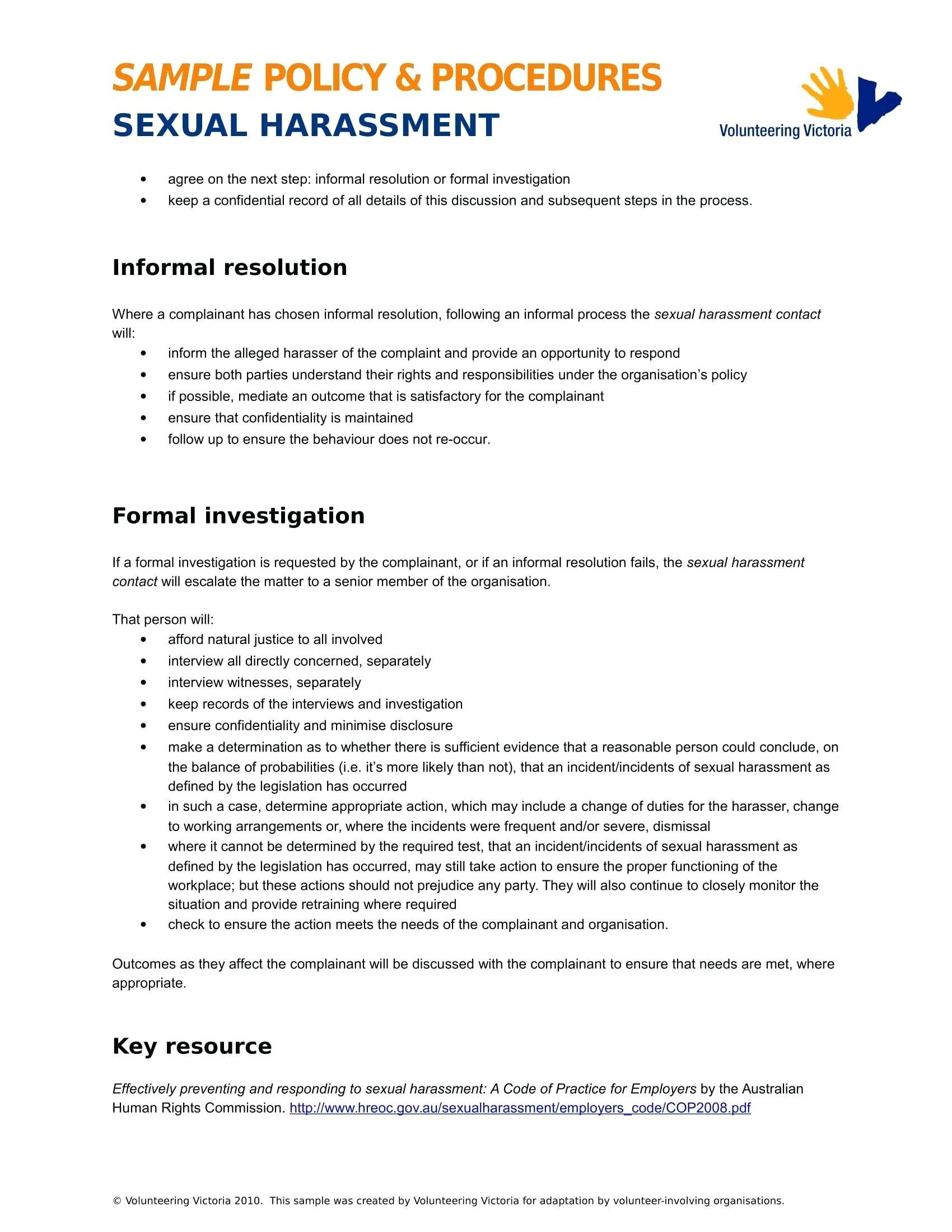 Failed Background Check Letter Template - Ual Harassment Letter Template