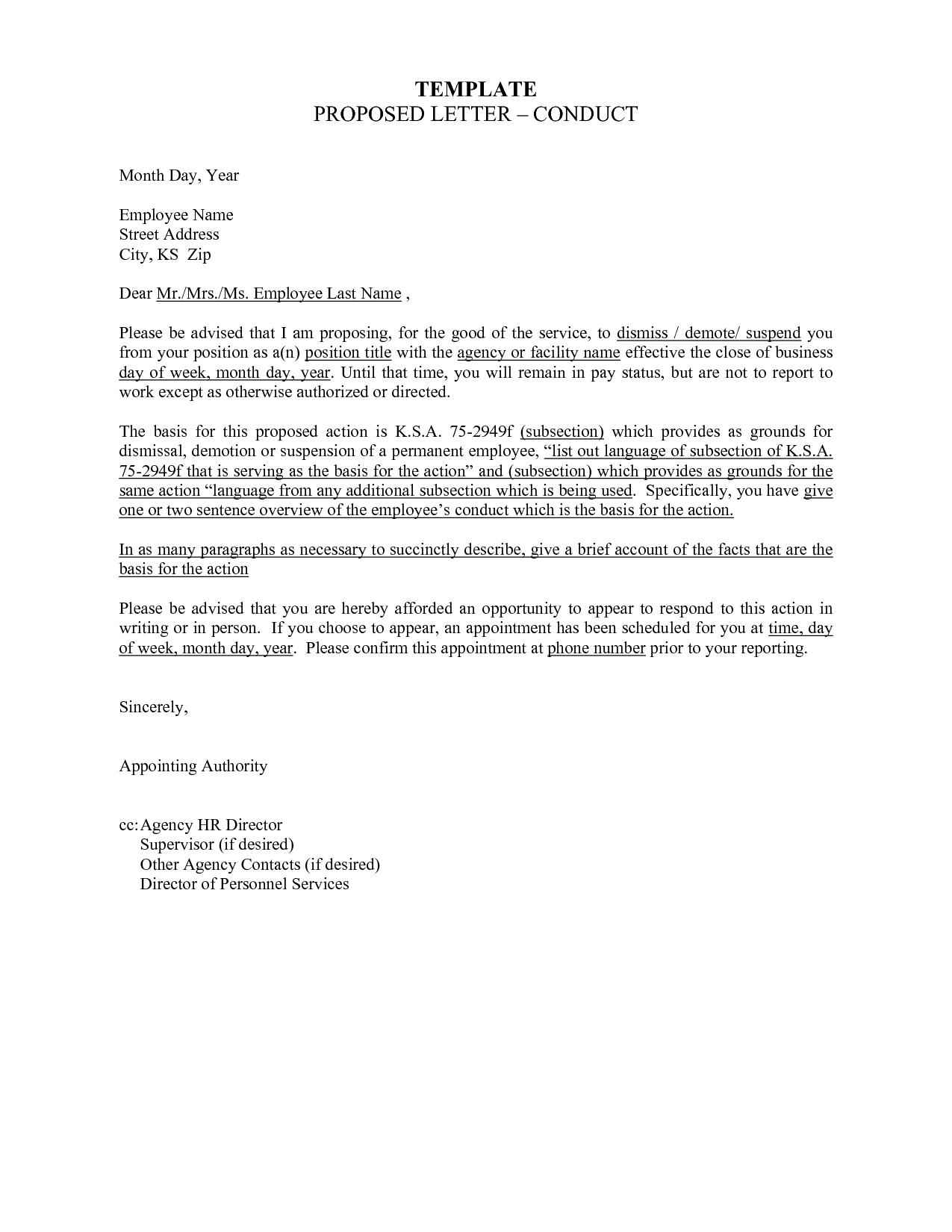 Demotion Letter Template Examples | Letter Template Collection