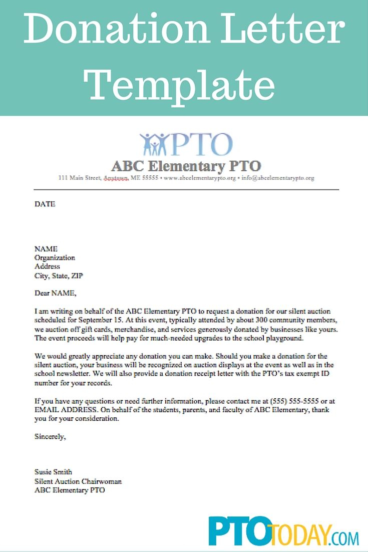 School Sponsorship Letter Template - Use This Template to Send Out Requests for Donations to Support Your