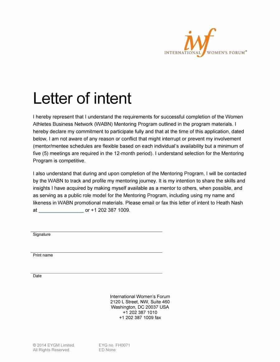 Special Needs Letter Of Intent Template - Visit Our Page to Learn How to Write A Letter Of Intent and