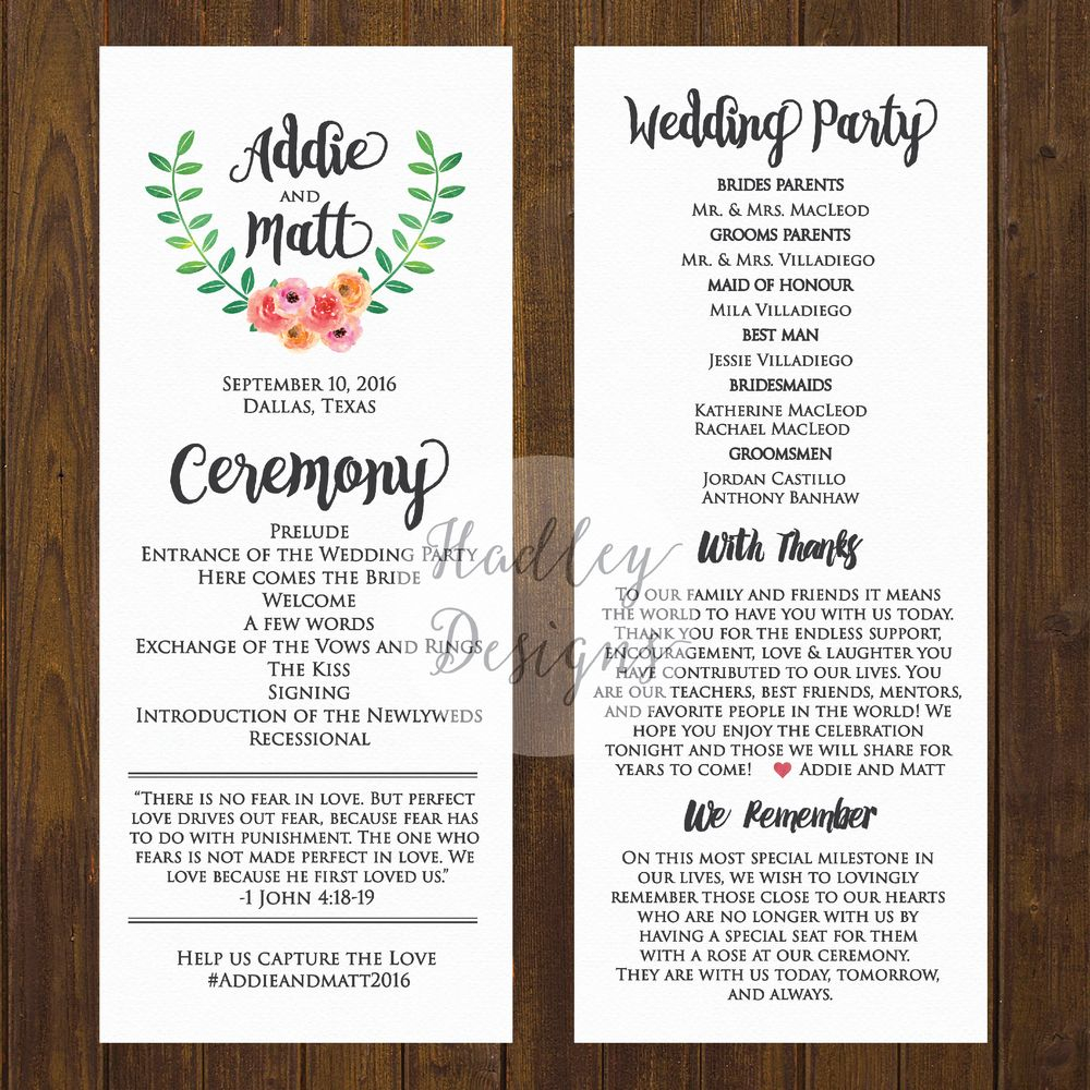 Welcome Letter Template for Wedding Guests - Wedding Programs Wedding Ceremony Programs Wedding Program Ideas