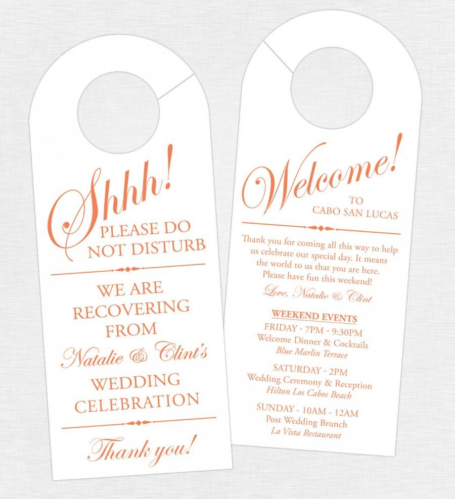 Wedding Welcome Bag Letter Template - Wedding Schedule Of events Acurnamedia