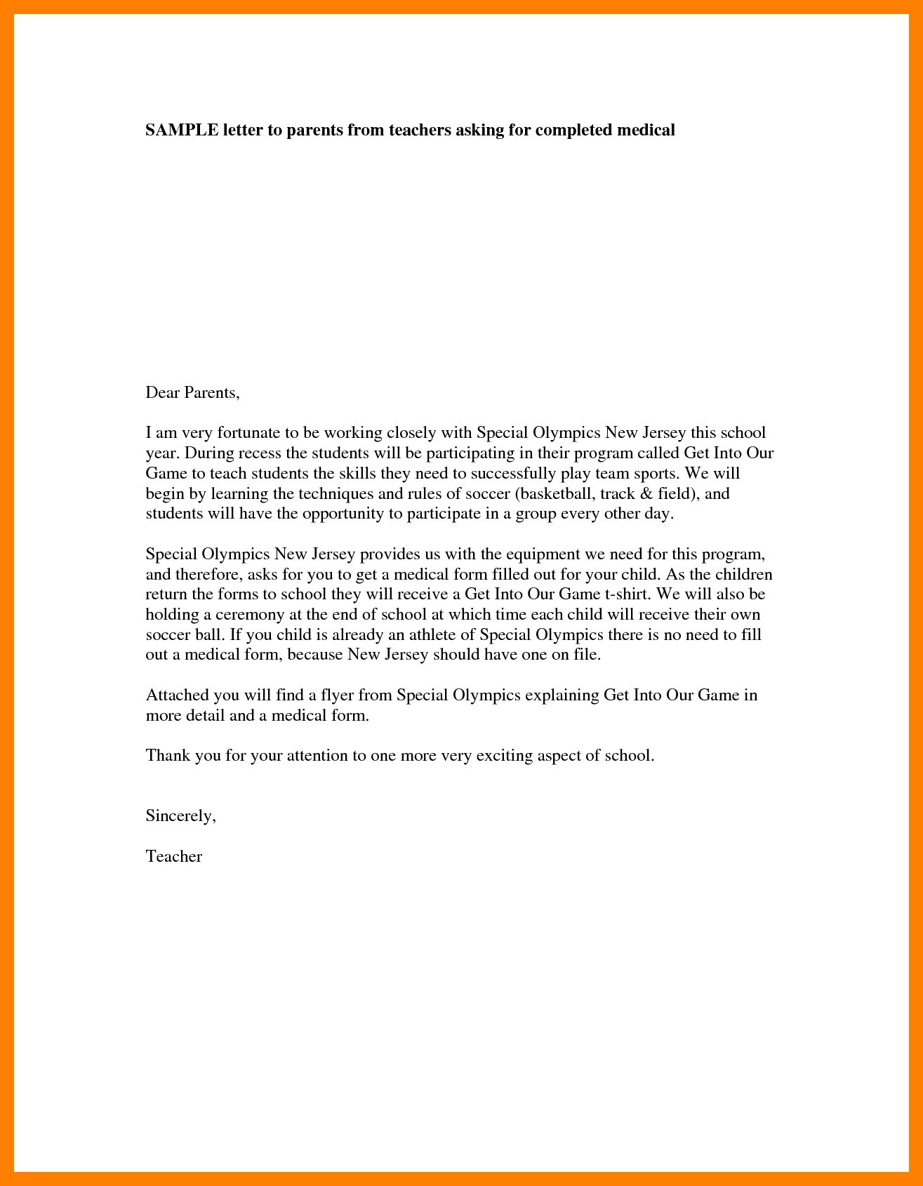 Preschool Welcome Letter to Parents From Teacher Template - Wel E Parent Letters From Teachers Copy Email Email to Parents