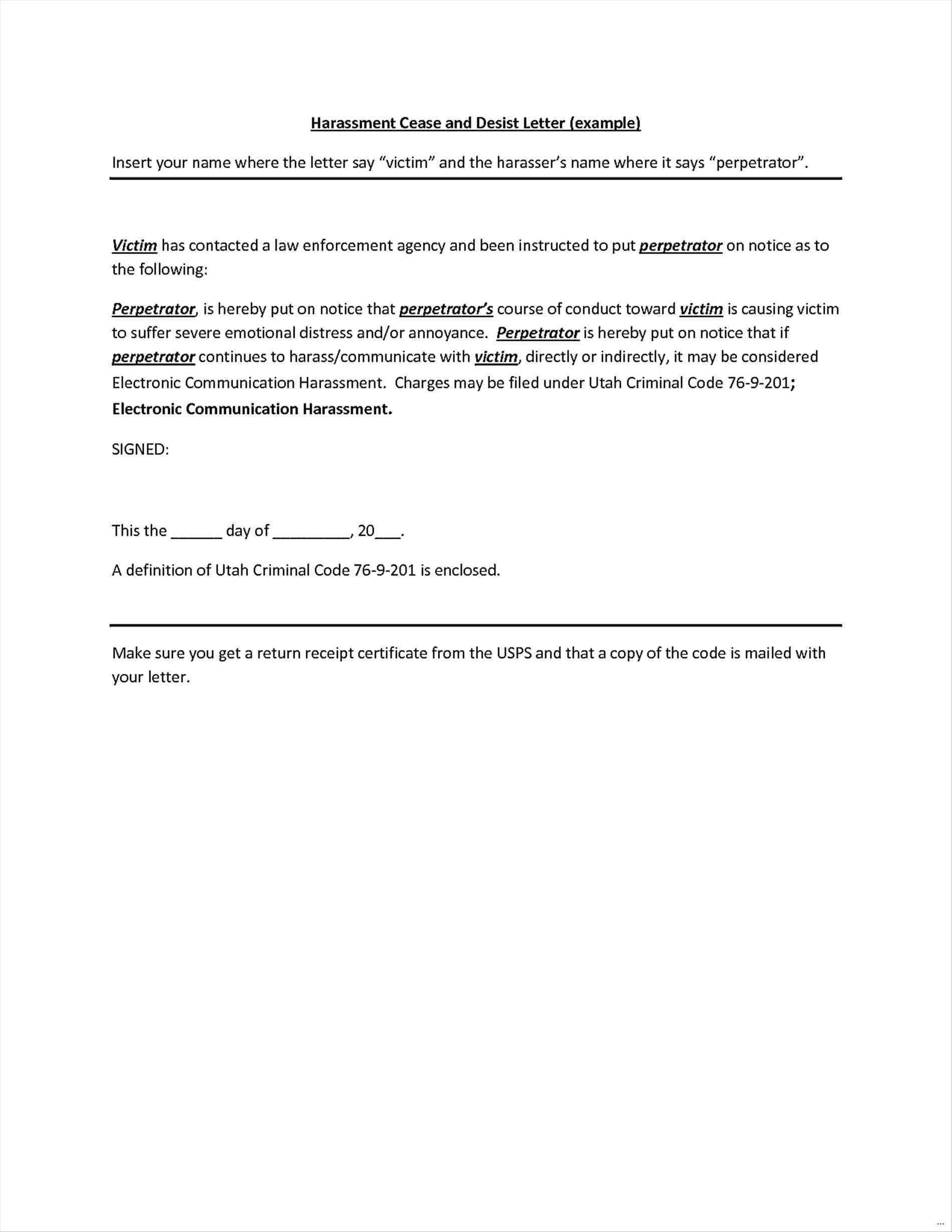 Free Cease and Desist Letter Template Canada - What is A Cease and Desist Letter Awesome Cease and Desist Template
