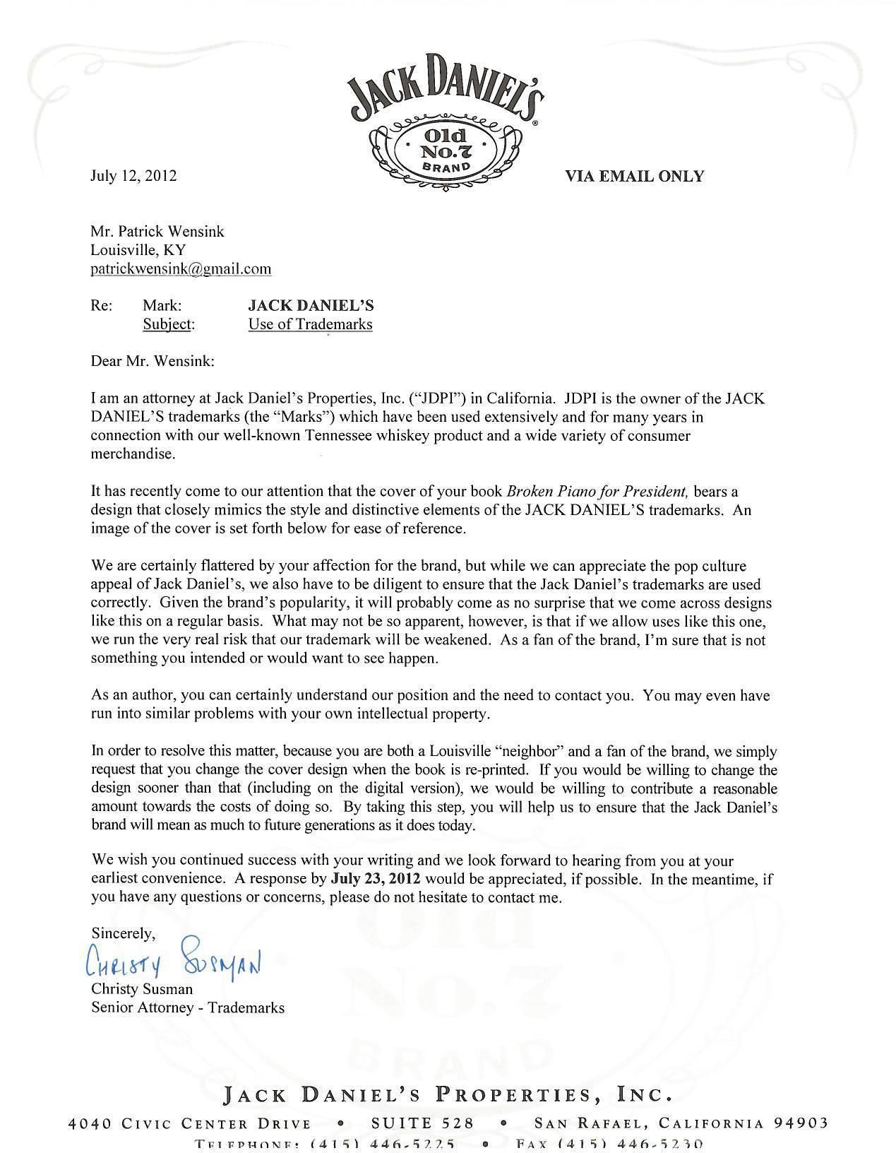"california cease and desist letter template example-What is A Cease and Desist Letter Inspirational Case Jacka Danielsa ""how to"" Dla ""ptasiego Mleczka"" Od Wedla 18-f"