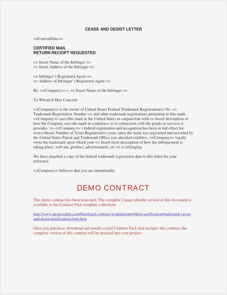 Cease and Desist Letter Template Business Name - What is A Cease and Desist Letter Professional Sample Cease and