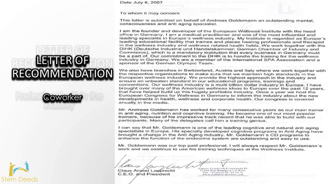 Professional Letter Of Recommendation Template - What Should You Say In Reference Letter Professional Does Bank A