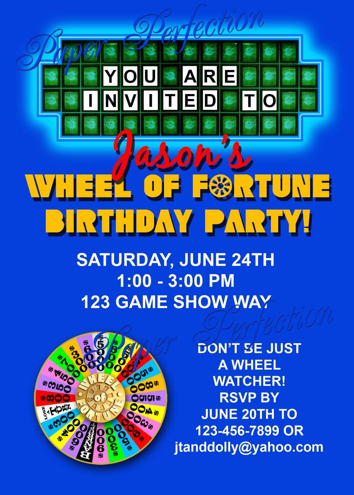 Wheel Of fortune Letter Board Template - Wheel Of fortune Invitations Things to Do Pinterest