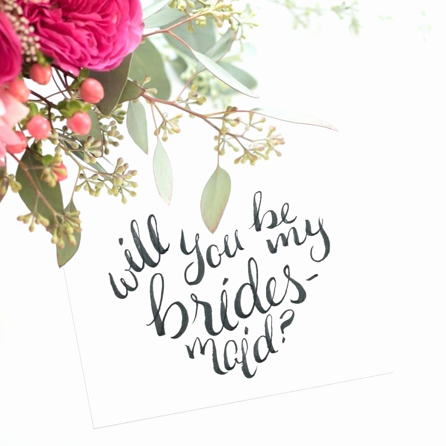 Will You Be My Bridesmaid Letter Template - Will You Be My Bridesmaid Letter Template Lovely Fancy Bridesmaid