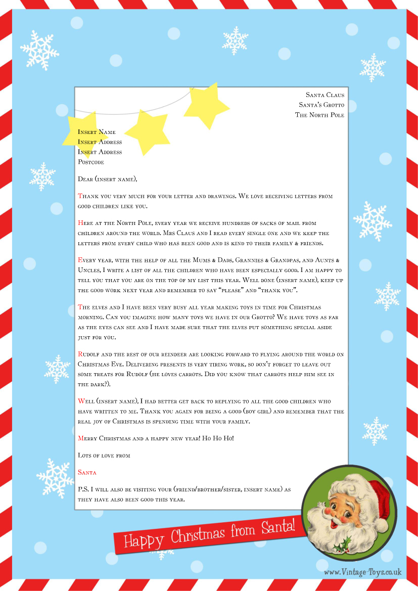 Free Printable Letter From Santa Word Template - Word Santa Letter Template Acurnamedia