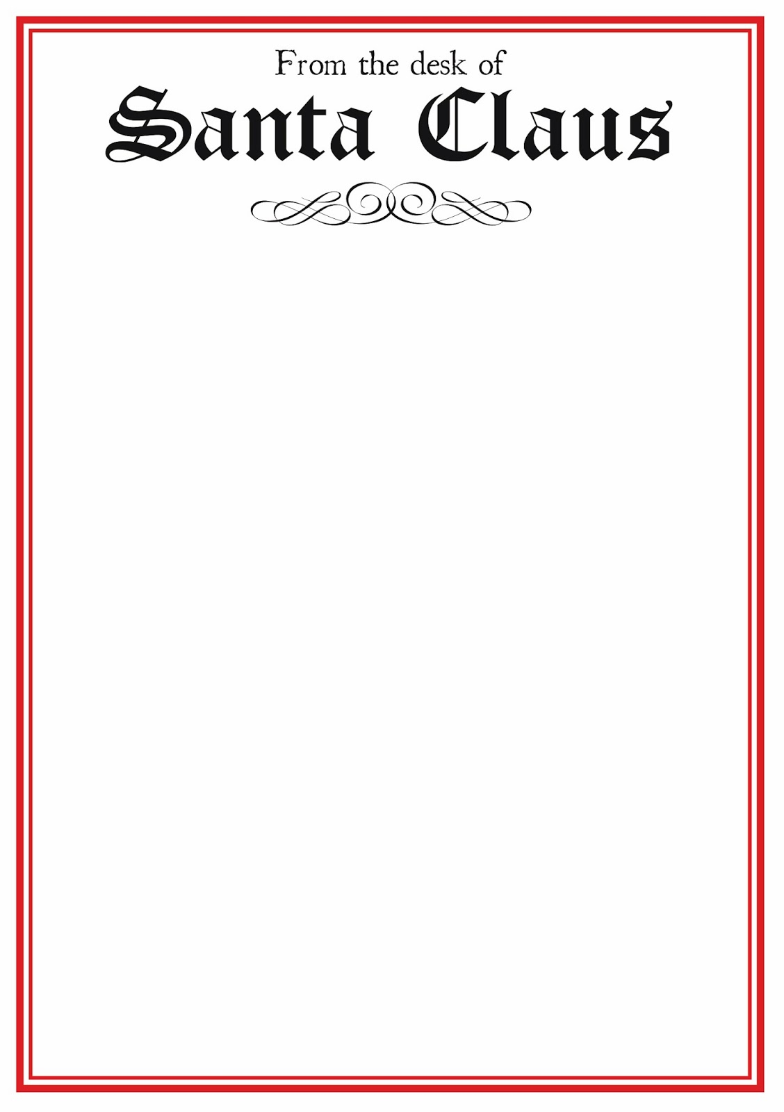 free printable letter from santa word template example-word santa letter template 5-o